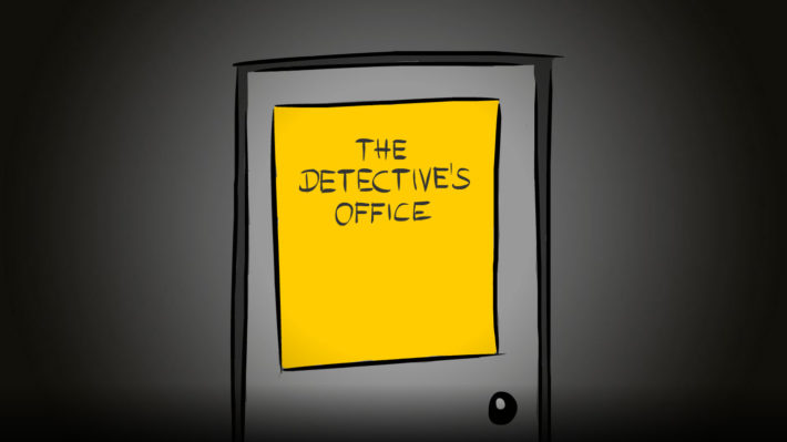 The Detective's Office: The Door (from outside)